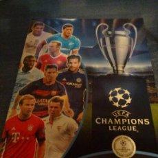Coleccionismo deportivo: ALBUM CROMOS UEFA CHAMPIONS LEAGE -2015-2016. SOLO TIENE 4 CROMOS. Lote 183599597