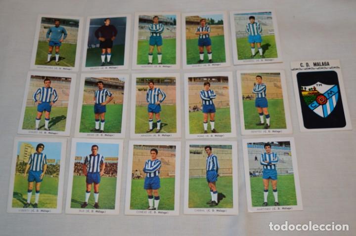 C.D. MÁLAGA - 16 CROMOS - LIGA 70-71 - CAMPEONATO DE LIGA 1970 / 1971 - FHER / DISGRA ¡BUEN ESTADO! (Coleccionismo Deportivo - Álbumes y Cromos de Deportes - Álbumes de Fútbol Incompletos)