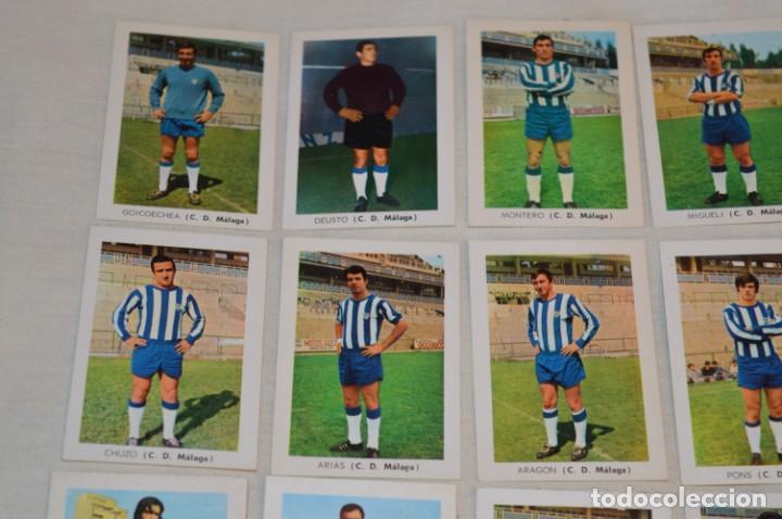 Coleccionismo deportivo: C.D. MÁLAGA - 16 CROMOS - LIGA 70-71 - CAMPEONATO de LIGA 1970 / 1971 - FHER / DISGRA ¡Buen estado! - Foto 2 - 184610886