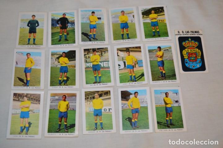 UD LAS PALMAS -16 CROMOS - LIGA 70-71 - CAMPEONATO DE LIGA 1970 / 1971 - FHER / DISGRA ¡BUEN ESTADO! (Coleccionismo Deportivo - Álbumes y Cromos de Deportes - Álbumes de Fútbol Incompletos)