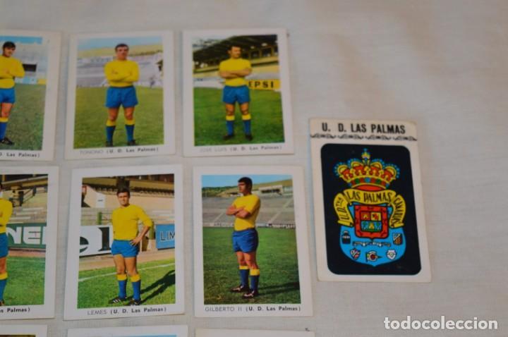 Coleccionismo deportivo: UD LAS PALMAS -16 CROMOS - LIGA 70-71 - CAMPEONATO de LIGA 1970 / 1971 - FHER / DISGRA ¡Buen estado! - Foto 3 - 184613701