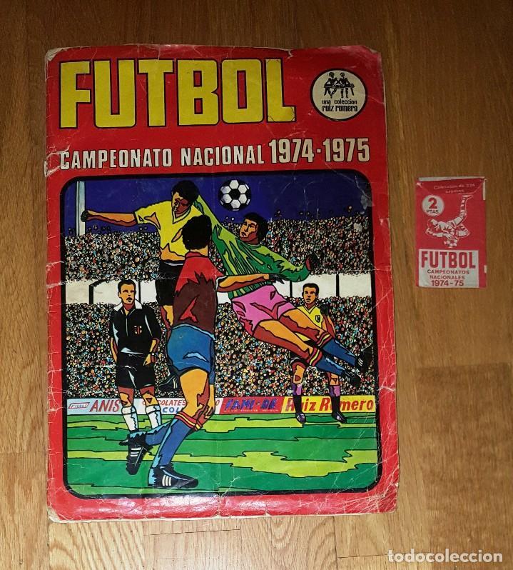 CAMPEONATO NACIONAL 1974 1975 , EDITORIAL RUIZ ROMERO + SOBRE CROMOS VACIO (Coleccionismo Deportivo - Álbumes y Cromos de Deportes - Álbumes de Fútbol Incompletos)