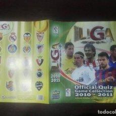 Coleccionismo deportivo: PORTADA ORIGINAL NUEVA QUIZ MUNDICROMO FICHAS LIGA 2010 - 2011 10 - 11. Lote 263097095