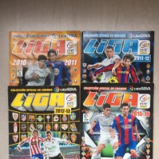 Coleccionismo deportivo: ÁLBUMES DE CROMOS VACIOS, LIGAS 2010/11, 2011/12, 2012/13, 2015/16 COLECCIONES ESTE/PANINI. Lote 229714625