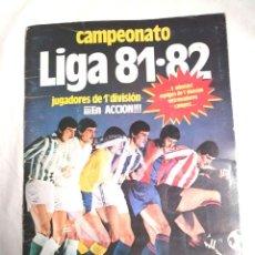 Colecionismo desportivo: ALBUM DE CROMOS CAMPEONATO LIGA 81-82 DE EDICIONES ESTE. Lote 228978130