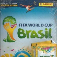Coleccionismo deportivo: ALBUM FUTBOL VACÍO *FIFA WORLD CUP BRASIL 2014* CON 4 SOBRES DE CROMOS SIN ABRIR - PANINI. Lote 204780130