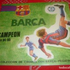 Coleccionismo deportivo: (LLL)ALBUM CROMOS BARÇA CAMPEÓN LIGA 84-85-BARÇA-PEGATINAS. Lote 189530555