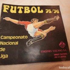 Coleccionismo deportivo: FUTBOL 75 / 76. CAMPEONATO NACIONAL DE LIGA. ED. VULCANO PRACTICAMENTE VACIO , CONTIERE 5 CROMOS.. Lote 190173116