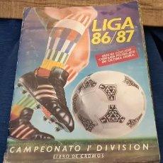 Coleccionismo deportivo: ED. ESTE ALBUM LIGA 86 87 BASTANTE COMPLETO CON PORTADA NUEVA EDICIÓN. LEER DESCRIPCIÓN . Lote 190591601