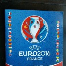 Coleccionismo deportivo: STICKER ÁLBUM CROMOS FÚTBOL UEFA EURO 2016 FRANCE 85% COMPLETO ORIGINAL + 594 PANINI 16. Lote 190709887