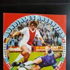 Coleccionismo deportivo: ÁLBUM CROMOS FÚTBOL FHER MUNDIALES ARGENTINA CASI VACÍO ORIGINAL 1978 CON 27 MUNDIAL WORLD CUP. Lote 190809347