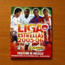 Colecionismo desportivo: ÁLBUM DE COLECCIÓN DE BOLSILLO LIGA DE LAS ESTRELLAS 05-06 - 2005-2006 PANINI - VACIO. Lote 192798578