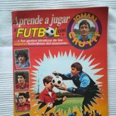 Coleccionismo deportivo: ÁLBUM APRENDE A JUGAR A FÚTBOL CON JOHAN CRUYFF 1984 -INCOMPLETO. Lote 193422733