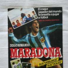 Coleccionismo deportivo: ÁLBUM MARADONA SUS DRIBLINGS, SUS GOLES 1984-85 CON LIGA 1ª DIVISIÓN. Lote 193423941