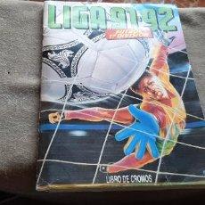 Coleccionismo deportivo: ALBUM LIGA ESTE 1991/92 - INCOMPLETO - COMO SE VE EN LAS FOTOS - VER TODAS LAS FOTOS. Lote 194212136