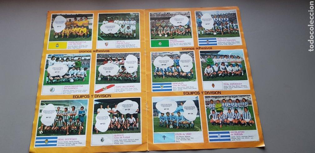 Coleccionismo deportivo: POSTER HOJAS CENTRALES ALBUM LIGA ESTE 78 79 1978 1979 CON ALGUNOS CROMOS - Foto 2 - 194228955
