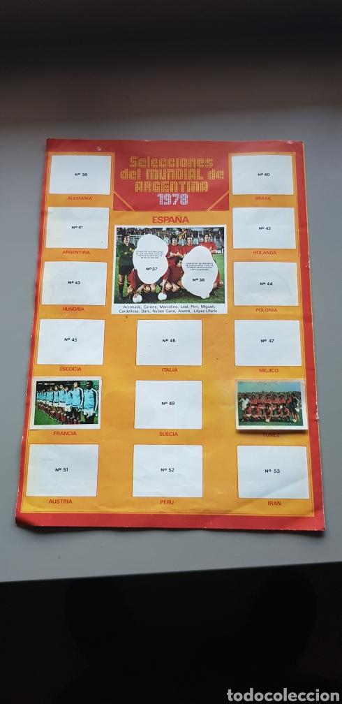 Coleccionismo deportivo: POSTER HOJAS CENTRALES ALBUM LIGA ESTE 78 79 1978 1979 CON ALGUNOS CROMOS - Foto 3 - 194228955