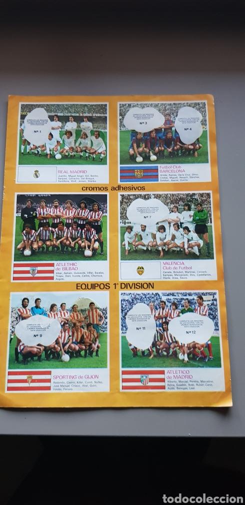 POSTER HOJAS CENTRALES ALBUM LIGA ESTE 78 79 1978 1979 CON ALGUNOS CROMOS (Coleccionismo Deportivo - Álbumes y Cromos de Deportes - Álbumes de Fútbol Incompletos)