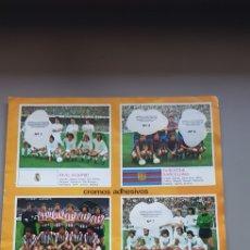 Coleccionismo deportivo: POSTER HOJAS CENTRALES ALBUM LIGA ESTE 78 79 1978 1979 CON ALGUNOS CROMOS. Lote 194228955