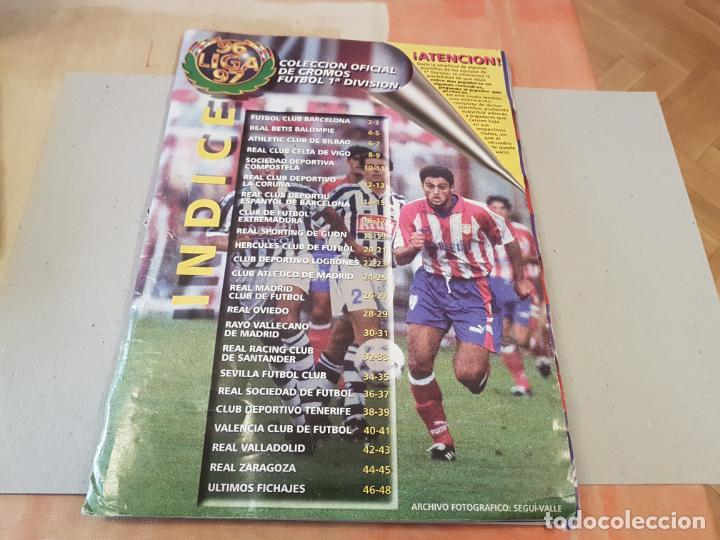 ANTIGUO ALBUM DE FUTBOL LIGA 96 97 1996 1997 EDICIONES ESTE INCOMPLETO VER FOTOS (Coleccionismo Deportivo - Álbumes y Cromos de Deportes - Álbumes de Fútbol Incompletos)