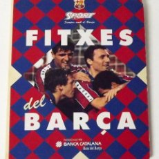 Coleccionismo deportivo: ALBUM 19 DE 20 FITXES DEL BARÇA SPORTS BANCA CATALANA FALTA GUARDIOLA. Lote 194293136