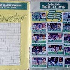 Coleccionismo deportivo: ALBUM DE FUTBOL 84/85 COMPLETO MENOS ALGUNOS FICHAJES CON 55 CROMOS DOBLES. Lote 194297690