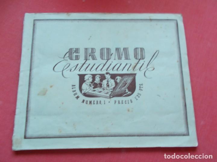 ED.ESPAÑA -- CROMO ESTUDIANTIL ALBUM Nº1 AÑO 1942 (Coleccionismo Deportivo - Álbumes y Cromos de Deportes - Álbumes de Fútbol Incompletos)