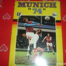 Coleccionismo deportivo: (LLL)ALBUM CROMOS MUNICH 74 X CAMPEONATOS MUNDIALES DE FUTBOL-INCOMPLETO-BUEN ESTADO. Lote 194551462
