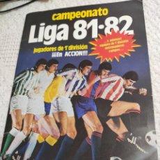 Coleccionismo deportivo: CAMPEONATO ALBUM CAMPEONATO DE LIGA 81-82. Lote 194578218