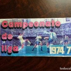 Coleccionismo deportivo: ÁLBUM FÚTBOL CAMPEONATO DE LIGA 1974/75. PIPAS TOSTAVAL. LIT. GRAELL. INCOMPLETO.. Lote 194586343