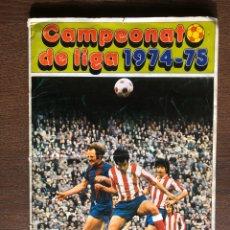Coleccionismo deportivo: ALBUM FUTBOL LIGA FHER-DISGRA 74-75 INCOMPLETO 1974-1975 FALTAN 16 FICHAJES Y 40 ADHESIVOS. Lote 194613713