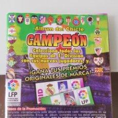 Coleccionismo deportivo: ALBUM CROMOS CHICLE CAMPEÓN LA 1996 97 CASI COMPLETO - CHEWING GUM LA LIGA SOCCER STICKERS. Lote 194744063