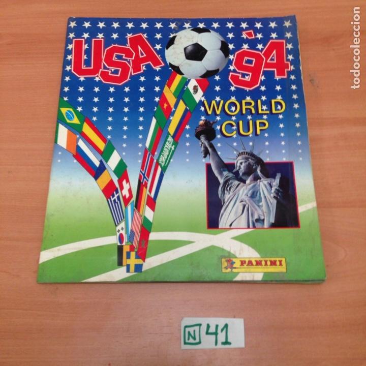 ÁLBUM DE CROMOS INCOMPLETO USA 94 (Coleccionismo Deportivo - Álbumes y Cromos de Deportes - Álbumes de Fútbol Incompletos)
