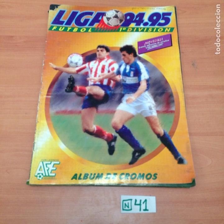 ÁLBUM DE CROMOS INCOMPLETO LIGA 94 ,95 (Coleccionismo Deportivo - Álbumes y Cromos de Deportes - Álbumes de Fútbol Incompletos)