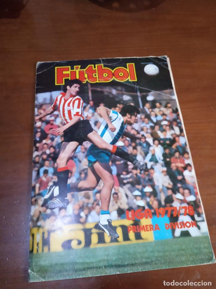 ALBUM ED ESTE 77 78 CROMO FUTBOL LIGA 1977 1978 TEMPORADA - VACIO CROMOS DESPEGADOS (Coleccionismo Deportivo - Álbumes y Cromos de Deportes - Álbumes de Fútbol Incompletos)