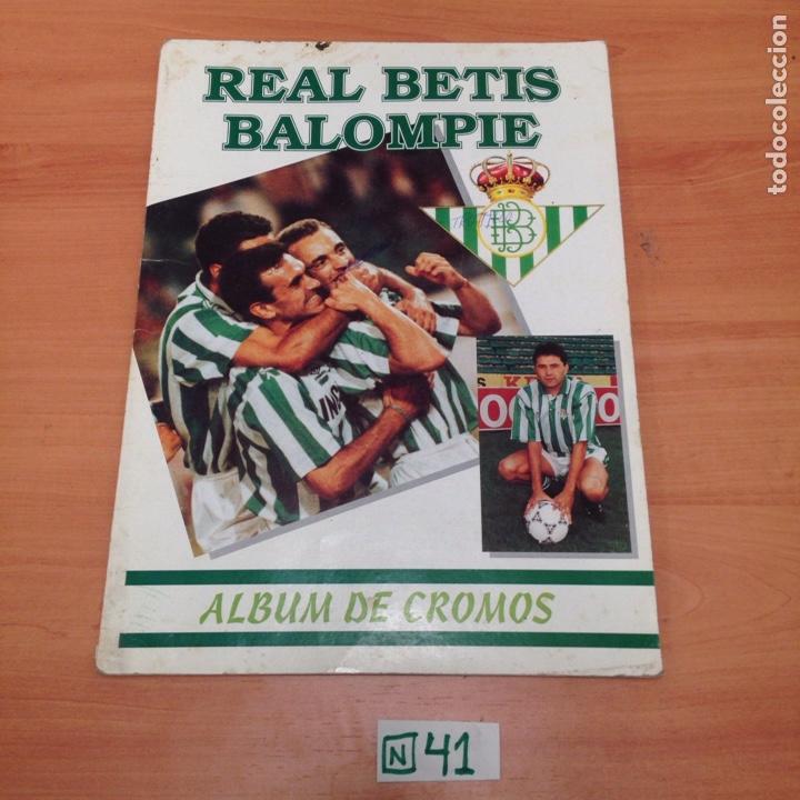 ÁLBUM DE CROMOS INCOMPLETO REAL BETIS (Coleccionismo Deportivo - Álbumes y Cromos de Deportes - Álbumes de Fútbol Incompletos)