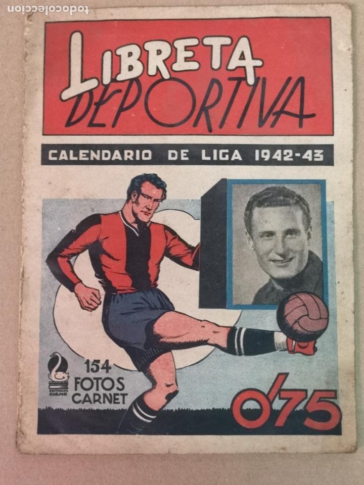 LIBRETA DEPORTIVA 1942-1943 EDT. CISNE (Coleccionismo Deportivo - Álbumes y Cromos de Deportes - Álbumes de Fútbol Incompletos)