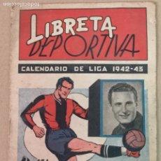 Coleccionismo deportivo: LIBRETA DEPORTIVA 1942-1943 EDT. CISNE. Lote 194886768
