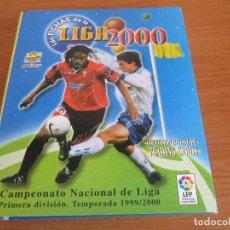 Coleccionismo deportivo: ALBUM DE CROMOS FUTBOL MUNDICROMO, LAS FICHAS DE LA LIGA 2000 ( INCOMPLETO CON 211 CROMOS). Lote 194945120