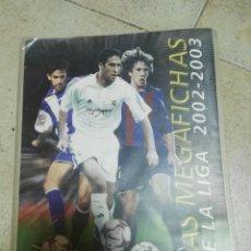 Coleccionismo deportivo: ÁLBUM DE CROMOS MEGAFICHAS LIGA 2002 - 2003 02 - 03 CASI COMPLETO CON 431 CARDS. Lote 195000193