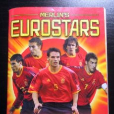 Coleccionismo deportivo: EUROSTARS 2004 POCKET COLLECTION MERLIN STICKERS ALBUM CROMOS FUTBOL EUROCOPA UEFA EURO CUP. Lote 195023243