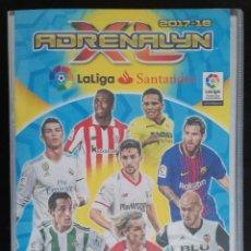 Coleccionismo deportivo: ALBUM DE FUTBOL ADRENALYN, TEMPORADA 2017-18 - CON 551 CROMOS - INCLUYE 10 EDICION LIMITADA. Lote 195155213