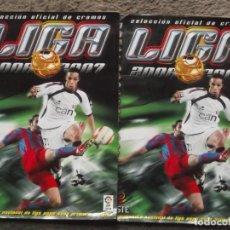 Coleccionismo deportivo: LOTE DE 2 ALBUNES DE LIGA 2006-07-ESTAN TAL COMO SE VEN EN LAS FOTOS. Lote 195226712