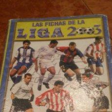 Coleccionismo deportivo: LIGA 2002/2003. ALBUM CLASIFICADOR MÁS DE 600 CARDS. MUNDICROMO. Lote 195334036