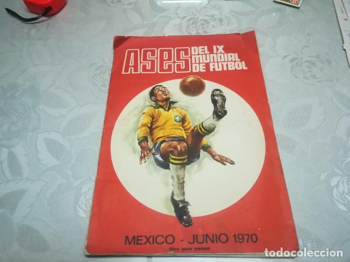 ASES DEL IX MUNDIAL DE FUTBOL MEXICO-JUNIO 1970 DISGRA MIREN FOTOS (Coleccionismo Deportivo - Álbumes y Cromos de Deportes - Álbumes de Fútbol Incompletos)