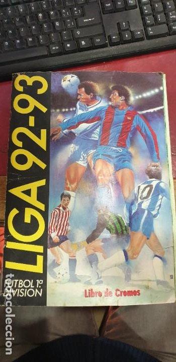 ALBUM FUTBOL LIGA 92/93 EDICIONES ESTE CASI COMPLETO FALTAN 3 CROMOS (Coleccionismo Deportivo - Álbumes y Cromos de Deportes - Álbumes de Fútbol Incompletos)