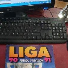 Coleccionismo deportivo: ALBUM FUTBOL LIGA 90/91 ED ESTE POCOS CROMOS BUEN ESTADO 72 CROMOS. Lote 195363293