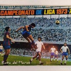 Coleccionismo deportivo: CAMPEONATO DE LIGA 1973-74 - ÁLBUM DE CROMOS DE FÚTBOL - FALTAN ALGUNOS CROMOS DEL PÓSTER CENTRAL. Lote 195409778