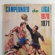 Coleccionismo deportivo: CAMPEONATO DE LIGA 1970 1971 - ÁLBUM DE CROMOS DE FÚTBOL - DOS HOJAS ROTAS Y FALTA 1 CROMO. Lote 195414407
