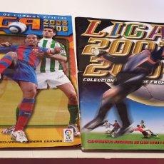 Coleccionismo deportivo: LOTE 2 ALBUNES INCOMPLETO LIGA ESTE 2003 2004 03 04 2005 2006 05 06 VER FOTO. Lote 195513357